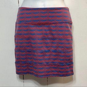 Nollie Pink Pattern Stretch Mini Skirt